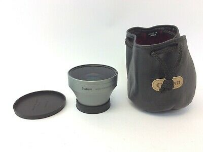 Canon Wide-Converter WD-H43 0.7x Made in Japan Camera Lens with Pouch