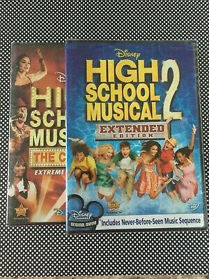 Disney's HIGH SCHOOL MUSICAL The Concert DVD and HIGH SCHOOL MUSICAL 2 Lot NEW!