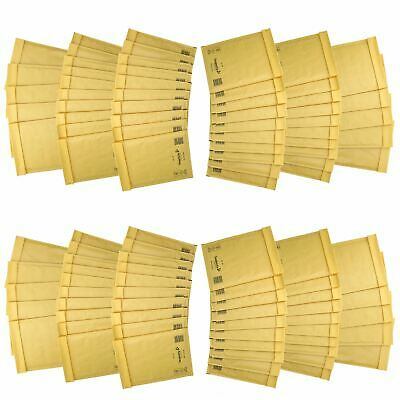 100 Pack Padded Mail Bags Envelopes Gold Mail Lite 180mm x 260mm D/1 DVD