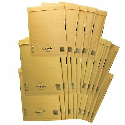 25 Pack Padded Mail Bags Envelopes Gold Mail Lite 240mm x 320mm A4 G/4
