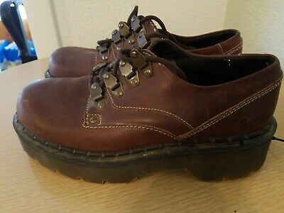 Dr. Martens Vintage Chunky Sole Brown Leather Shoes Made In England