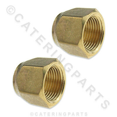 "2 x 5/8"" SHORT FLARE NUTS FOR REFRIGERATION PIPEWORK COPPER TUBE SOFT TUBING"