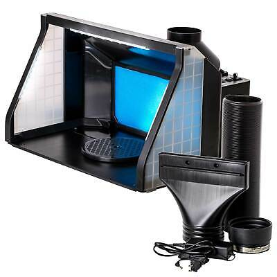 Portable Dual Fan Hobby Airbrush Paint Spray Booth Kit with Odor Extractor