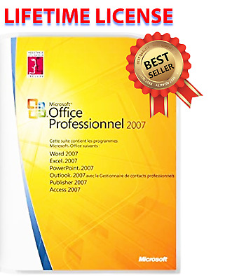 OFFICE-2007-🔥⚡💥👍Professional-Microsoft-🔥⚡💥👍Licence Français