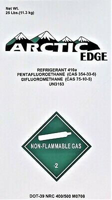 25 lbs. of R410A R-410A Refrigerant Unopen / Factory Sealed - Made In The USA