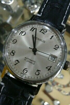 Men's Benrus Automatic 17 Jewels Made In Germany Date Wrist Watch