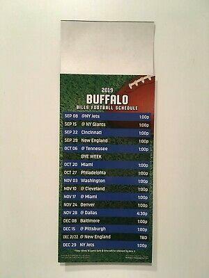 Nfl 2019 Buffalo Bills Magnet Schedule / Also Sunday & Monday Night Nfl Games