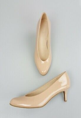 17976438f4 Coach Beechwood Nude 60MM Round Toe Patent Leather Pumps Heels Shoes 7.5
