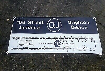 Nyc Subway Roll Sign Section Qj Line Bmt Ind 168Th St Jamaica Brighton Beach
