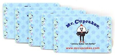 $50.00 Dollars in Mr. Cupcakes Gift Cards (5 Cards x $10.00 Each)