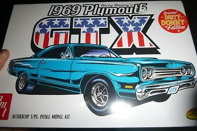 "AMT 1065 1969 ""Dirty Donny"" Plymouth GTX 1/25 MODEL CAR MOUNTAIN"" FS"