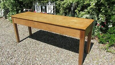 Antique pine refectory table country kitchen seats 8