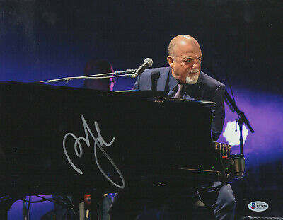Music Entertainment Memorabilia Billy Joel Signed 16x20 Photo Authentic Autograph Beckett Bas Coa 9 Piano Man