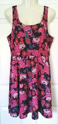 a66cb95a7 Disney Alice In Wonderland Dress Cheshire Cat Skater Dress Size XL Hot Topic