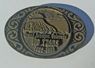 1882 - 1982 Grand Junction Colorado Centennial Belt Buckle Limited Edition