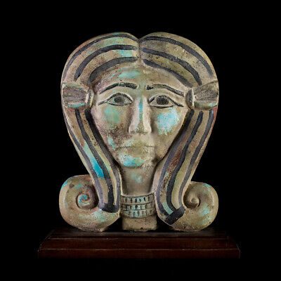 pharaoh replica of the head of the ancient Egyptian goddess of fertility Hathor