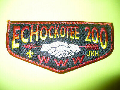 OA Echockotee Lodge 200,S23,2002,YL JKH,Black Bkgd Flap,North Florida Council,FL