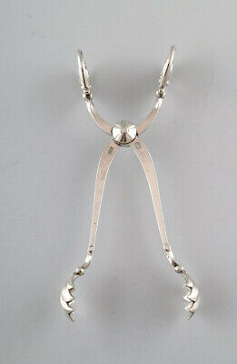 Georg Jensen large sugar tang in sterling silver, 'Blossom'.