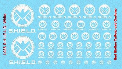Small Scale Hydra White Waterslide Decals for Action Figures