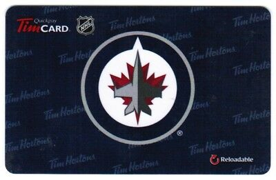 TIM HORTON'S Gift Card 2013  WINNIPEG JETS (NO BALANCE)  RARE
