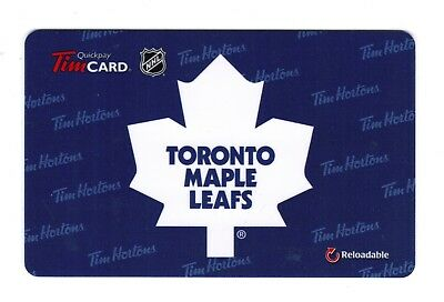 TIM HORTON'S (2) Gift Cards 2015 TORONTO MAPLE LEAFS  (NO BALANCE)  RARE