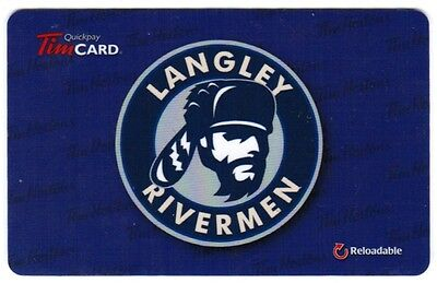 TIM HORTON'S Gift Card 2014  LANGLEY RIVERMEN  (NO BALANCE)  RARE