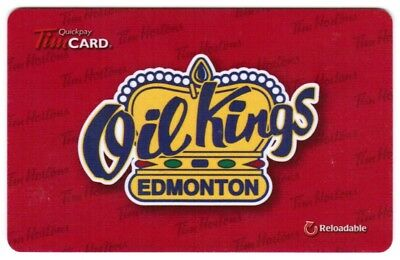 TIM HORTON'S Gift Card 2013  EDMONTON OIL KINGS (NO BALANCE)  RARE