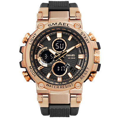 SMAEL Men's Sports Waterproof Digital Calendar Alarm Quartz Military Wrist Watch