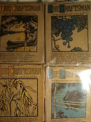 4 Early Issues Craftsman Magazine 1915 1916 Arts & Crafts Gustav Stickley