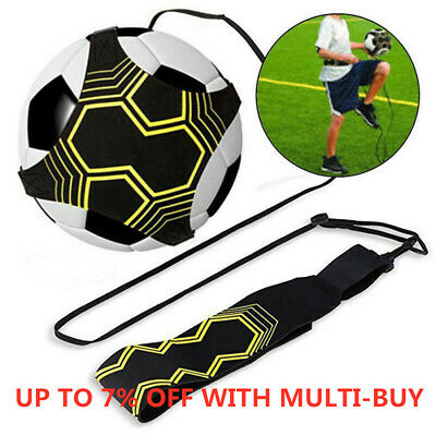 Soccer Football Kick Throw Trainer Solo Practice Training Aid Kids Control Skill