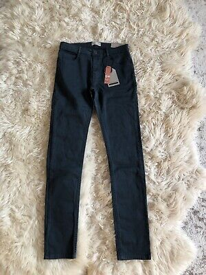 New Zara Boys Serged Skinny Jeans Pants Teal Blue Size 13/14