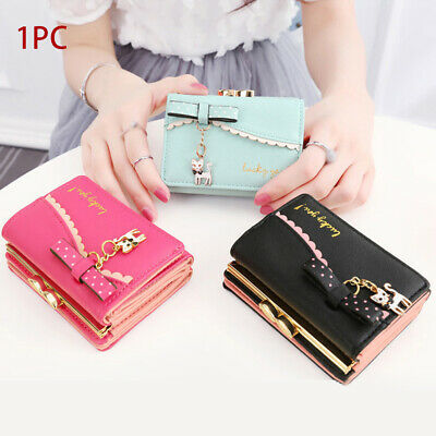 Small Money Purse Wallet Lady Leather zipper Coin Card Holder Women purse AU