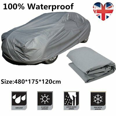 100% Waterproof L Extra Large Full Car Cover Breathable UV Protection Outdoor HT