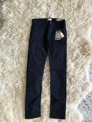 New Zara Boys Serged Skinny Jeans Pants Blue Size 13/14