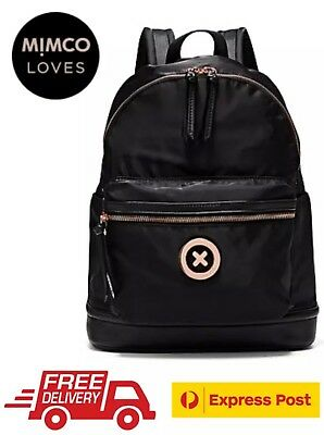 Mimco Splendiosa Backpack Black With Rose Gold Bnwt Rrp$199 - Free Express Post