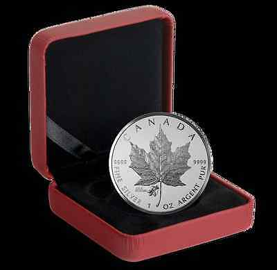 2015 Canada Maple Leaf Fine Silver Coin ANA Chicago Privy Mark & Violet, No Tax