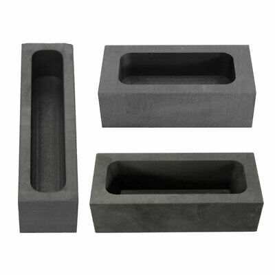 Graphite Casting Ingot Bar Mold For Gold Silver Copper Melting Refining Scrap