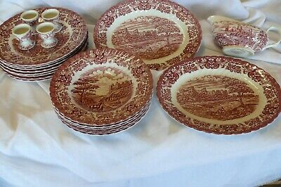 Konvolut England Geschirr OLDE COUNTRY CASTLES Hostess Tableware ! 25 Teile