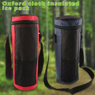 2L Insulated Cooler Water Bottle Carrier Tote Bag Holder Travel Pouch Organizer