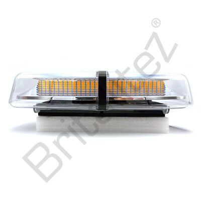 Bolt-On Amber LED Mini Light Bar Flashing Warning Beacons 12/24V, Britalitez UK