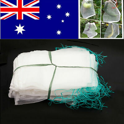 50x Agriculture Garden Fruit Vegetable Protection Exclusion Mesh Net Bags Insert