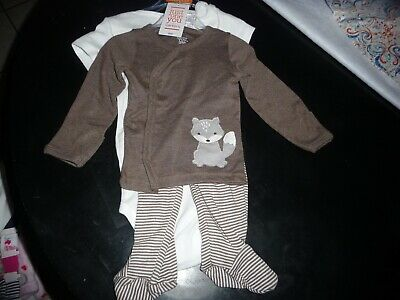 """NEW NWT Carters boys size 6 months 3 piece set with fox """"going places"""""""