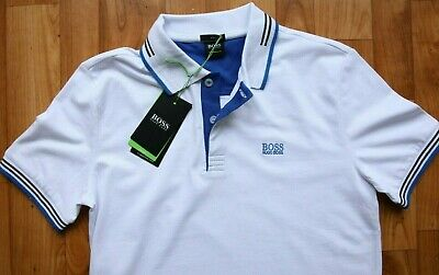 ad1c1645dfcc8 Hugo BOSS Polo Casual T Shirt White Color For Mens Green Label Size S  Genuine
