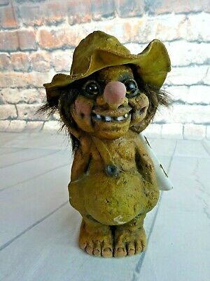 Vintage 1994 Nyform Troll 117 Boy w/Hat Norway With Tags - 18cm
