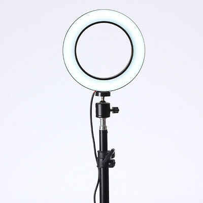 6'' LED Ring Light Studio Photo Video Dimmable  Tripod Stand Selfie Camera Phone