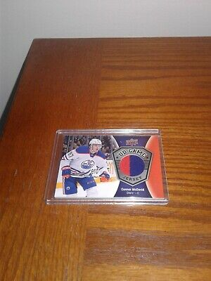 2016-17 Upper Deck Series One UD Game Jersey 2 colors # GJ-CM - Connor McDavid