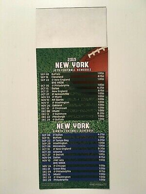 Nfl 2019 New York Giants & New York Jets  Magnet Schedule - New