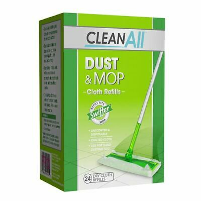 Clean All Dust And Mop Dry Cloth Refill Disposable Unscented 24 Count