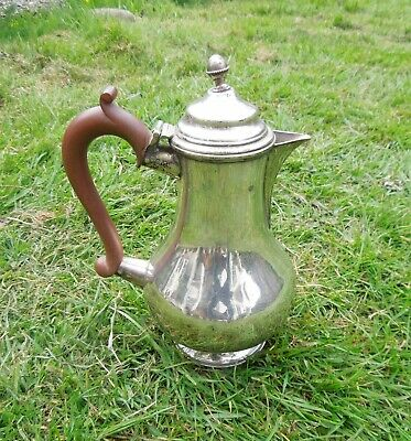 Antique Georgian Style Silver Plated Hot Water Jug Elkington & Co