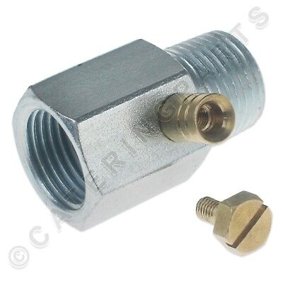"""GAS TEST NIPPLE IN LINE PIPE TESTING POINT 1/2"""" BSP pipe CONNECTOR MALE x FEMALE"""